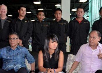 Djan Faridz berikan mtivasi kepada tim Piala Davis Indonesia