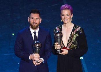 Kapten Barcelona Lionel Messi meraih penghargaan The Best FIFA Men's Player 2019. Sementara untuk permain terbaik wanita jatuh pada Megan Rapinoe/Net