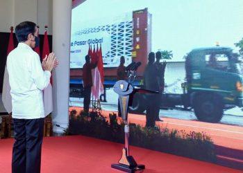 Presiden Joko Widodo saat meresmikan Pelepasan Ekspor ke Pasar Global Tahun 2020, Jumat (4/12/2020) secara virtual dari Istana Kepresidenan Bogor, Jawa Barat.