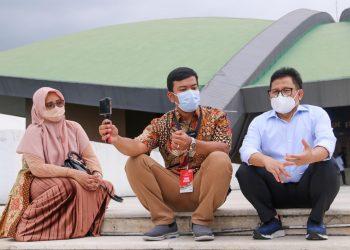Alman Mulyana bertemu dengan Ketua Umum (Ketum) Partai Kebangkitan Bangsa (PKB) Abdul Muhaimin Iskandar atau Gus Muhaimin di Gedung DPR/MPR, Senayan, Jakarta, Rabu (16/6/2021).
