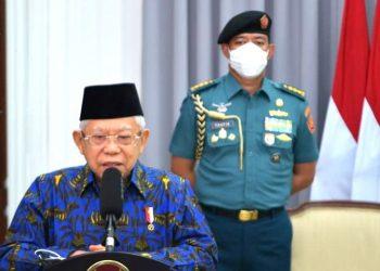 Wapres Ma'ruf Amin saat memberikan sambutan pada Peringatan Harganas Tahun 2021, Selasa (29/06/2021) secara virtual. (Foto: BPMI Setwapres)