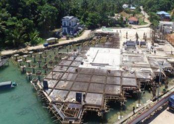 Progres pembangunan PLBN Terpadu Serasan (Foto: Humas Kementerian PUPR)