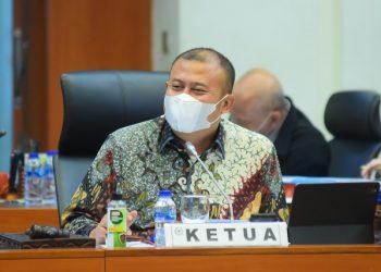 Wakil Ketua Banggar DPR RI Cucun Ahmad Syamsurijal saat memimpin Rapat Kerja Banggar DPR RI dengan pemerintah, di Gedung DPR RI.
